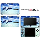 Dolphin Beach Decorative Video Game Decal Cover Skin Protector for Nintendo 3DS XL