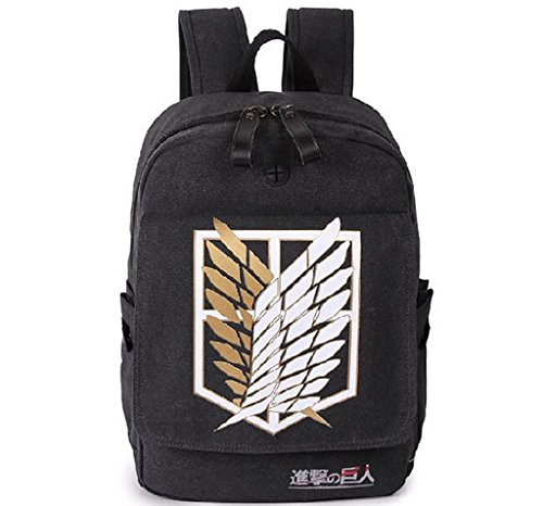 Attack on Titan Scouting Legion Cosplay Canvas Student Boy Backpack Schoolbag