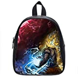 Too Amazing Custom Teenager Dragon Ball Z Printed Kids Black School Bag-M