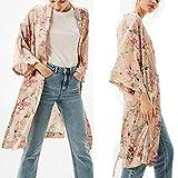 Gillberry Womens Print Bohemia Cardigan Long Kimono...
