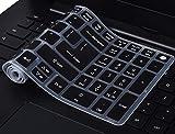 Keyboard Cover Compatible Acer Aspire E15 E5-575 E5-576G E5-573G ES15 ES1-572 / Aspire E 17 E5-772G / Aspire V15 V17 VN7-592G VN7-792G F15 F5-571 F5-573G / Aspire A315 A515 A517 A715, Black