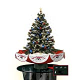 Indoor Christmas Tree Top Star Colorful Ornaments Snowing Christmas Tree