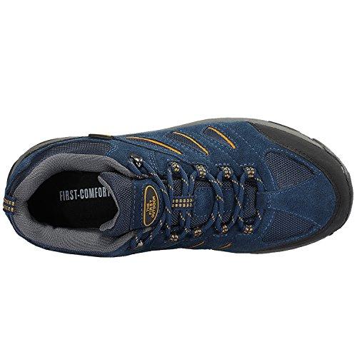 La Prima Scarpa Da Trekking Outdoor Da Uomo Traspirante Sneaker Da Arrampicata Sportiva Outdoor Da Montagna Con Zaffiri Blu