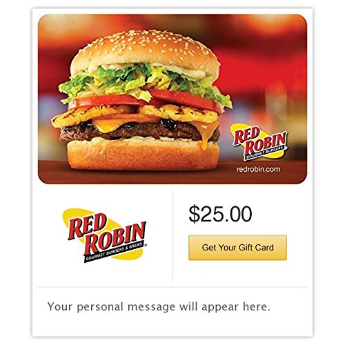 Electronic Gift Card (Red Robin Burger Gift Cards - E-mail Delivery)