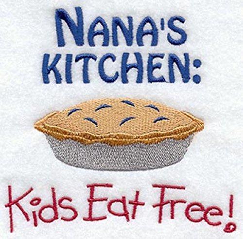 Embroidered Dish Towel Nana's Kitchen Kids Eat Free Design