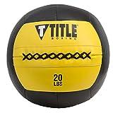 Title Boxing Max Medicine Ball, Yellow/Black, 20 lbs
