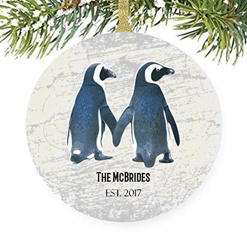 Penguin Bird Arctic Christmas Tree Ornament - Mission Trip (John Deere Favor)