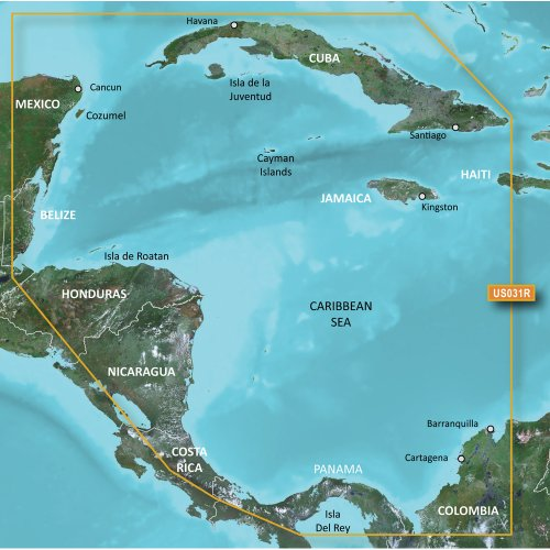 Garmin Bluechart® G2 Vision® Hd - Vus031r - Southwest Caribbean - Microsd™/sd™ Card Format = microSD/ ()