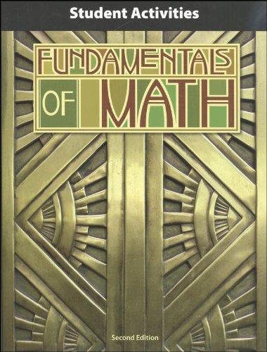 Fundamentals of Math Student Activity Manual 2nd Edition