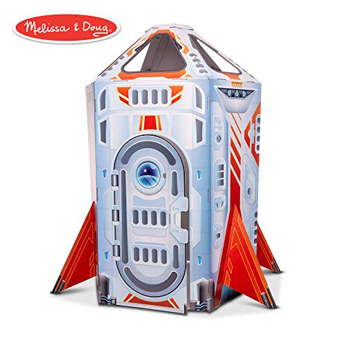 Elc Toy Shop - Melissa & Doug Rocket Ship Indoor Corrugate Playhouse (Over 4' Tall)