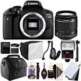 Canon EOS Rebel T6 18MP Digital SLR Camera with 18-55mm EF-IS STM Lens , SF-4000 Slave Flash and Accessory Bundle