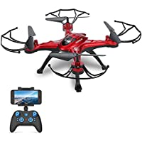 GoolRC T5W Wifi FPV Drone with Camera Live Video,Headless Mode & One Key Return & 3D Flips RC Quadcopter
