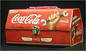 934e3defaa3f Image Unavailable. Image not available for. Color  Coca Cola Coke Tool Box  Shape Tin