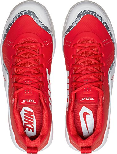 Nike Heren Forel Kracht Zoom 4 Turf Baseball Trainers Us) Rood / Wit
