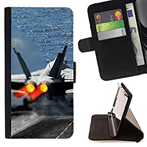 DEVIL CASE - FOR Samsung Galaxy S4 Mini i9190 - Fighter aircraft - Style PU Leather Case Wallet Flip Stand Flap Closure Cover