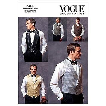 Amazon.com: Vogue Patterns V7488 Men\'s Vests, All Sizes: Arts ...
