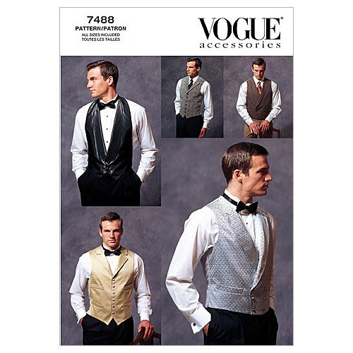 Vogue Patterns V7488 Men's Vests