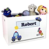 Boy's Personalized Toy Box- Police