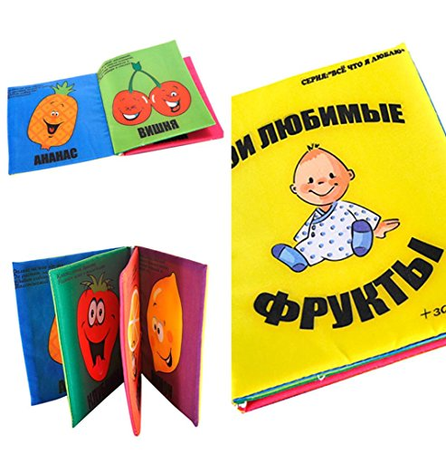 Russian Educational Cloth Books for Baby Kids By Coerni (Yellow)