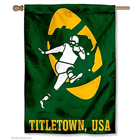 Green Bay Packers Titletown USA Two Sided House Flag - Green Bay Packers House