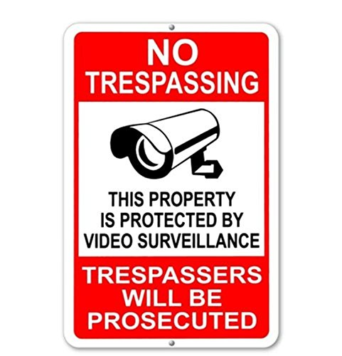 1 Sheet Winch (1-Pc Foremost Popular No Trespassing This Property Is Protected By Video Surveillance Trespassers Will Be Prosecuted Yard Signs Anti-Robber 1-Side Printed Size 7