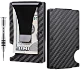 TougherGun Aluminum Slim Minimalist Front Pocket Wallet Credit Card Case Holder RFID Blocking (carbon fiber black)