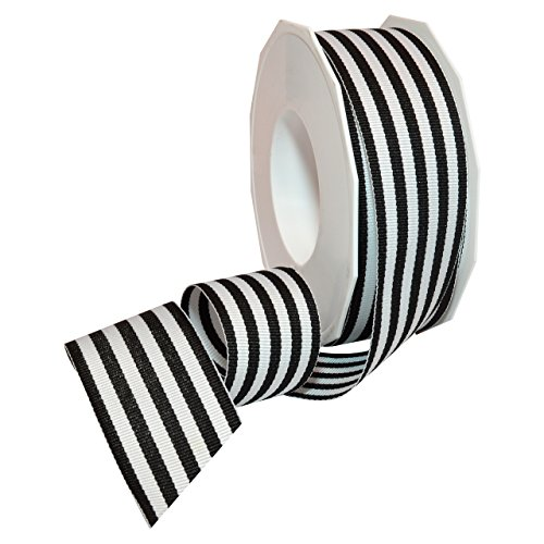 Striped Christmas Ornaments - Morex Ribbon Grosgrain Stripes Ribbon, 1-1/2
