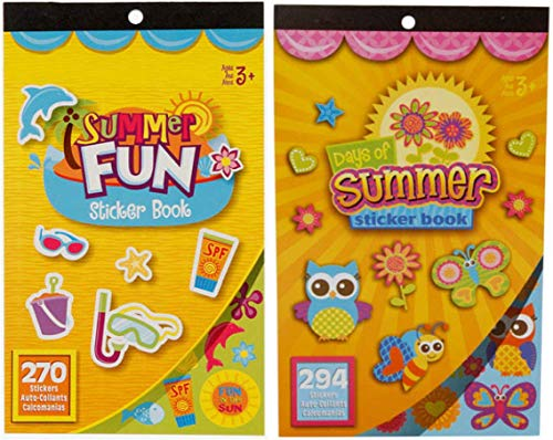 Kids Summer Beach Sticker Books- Summer Fun and Days of Summer- 564 Stickers