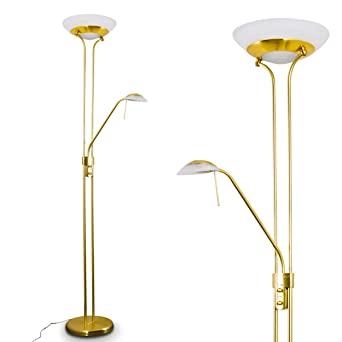 Led Stehlampe Biot Dimmbar Deckenfluter 1600 Lumen Mit Leselampe