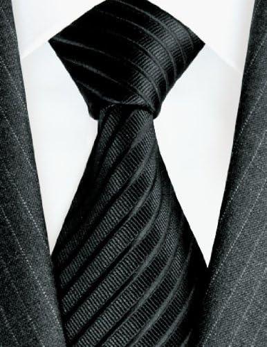 LORENZO CANA – Uni corbata Negro 100% seda con rayas – Party ...