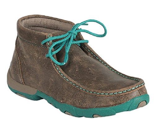 Twisted X Women's Driving Moccasin Bomber Turquoise -