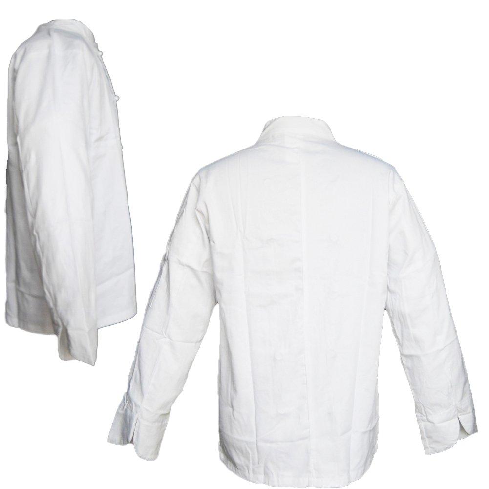 S Giacca casacca da cuoco chef cotone bianca con bottoncini divisa classica