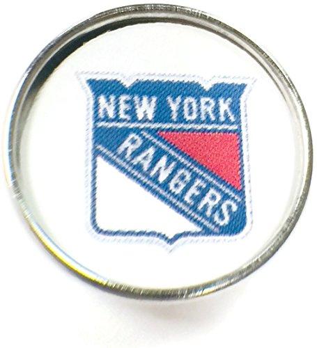 (Snap Jewelry Fashion NHL Hockey Logo New York Rangers 18 MM - 20 MM Snap Charm)