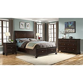 Elements Brinley 6 Piece Queen Bedroom Set In Cherry