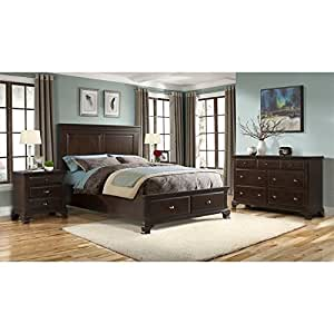 Elements Brinley 6 Piece King Bedroom Set in Cherry