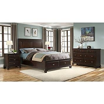 Amazon Com Elements Brinley Piece Queen Bedroom Set In Cherry