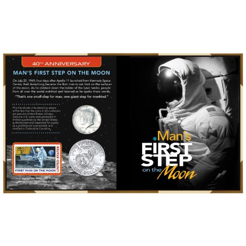 American Coin Treasures 40th Anniversary Man's First Step on The Moon
