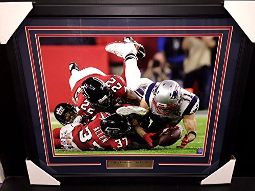 JULIAN EDELMAN THE CATCH SUPER BOWL LI NEW ENGLAND PATRIOTS 16x20 PHOTO FRAMED