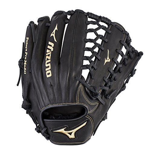 "Mizuno MVP Prime Future Outfield Youth Baseball Glove 12.25"", Size 12.25, Right Hand: Black (Rg90)"