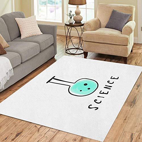 (Pinbeam Area Rug Watercolor Clip Bulb Science Chemistry Education Student University Home Decor Floor Rug 3' x 5' Carpet)