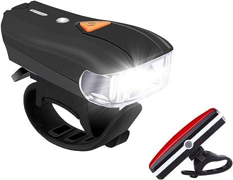 Luces LED Bicicleta USB Recargables BINKEN 400 Lumenes USB ...
