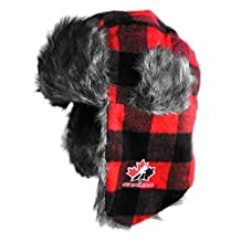 Team Canada Trapper Faux Fur Knit Hat
