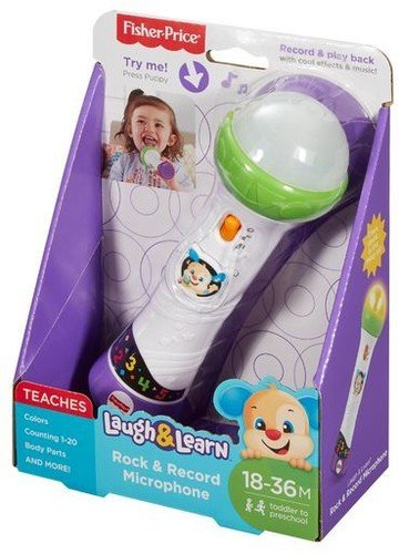 Fisher-Price Laugh & Learn Rock & Record Microphone