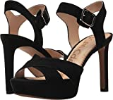 Sam Edelman Women's Jordan Heeled Sandal, Black Suede, 7.5 Medium US