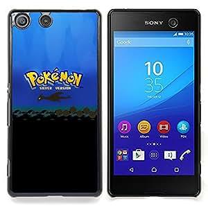 """Qstar Arte & diseño plástico duro Fundas Cover Cubre Hard Case Cover para Sony Xperia M5 E5603 E5606 E5653 (P0kemon Plata"""")"""