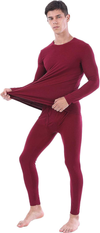 in caldo pile con maglietta a maniche lunghe e calzamaglia lunga Lanbaosi Completo intimo termico da uomo