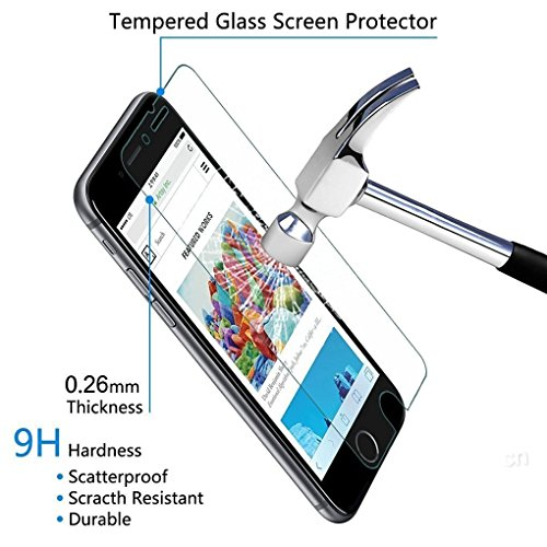 iPhone 8 Plus, 7 Plus, 6S Plus, 6 Plus Screen Protector Glass,OLINKIT Tempered Glass Screen ProtectorHD (3-Pack)[Case-Friendly] for Apple iPhone 8 Plus, 7 Plus, 6S Plus and 6 Plus 2017,2016,2015