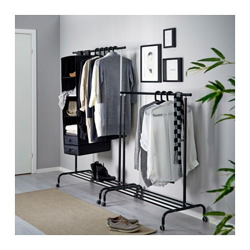 eLisa8 RIGGA - Ropa Rack, Negro: IKEA of Sweden: Amazon.es ...