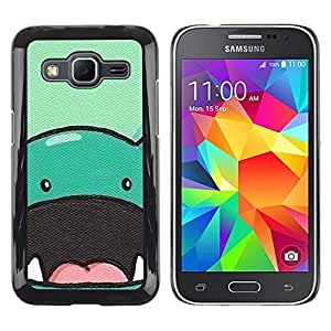 Be Good Phone Accessory // Dura Cáscara cubierta Protectora Caso Carcasa Funda de Protección para Samsung Galaxy Core Prime SM-G360 // dinosaur cute animal drawing cartoon