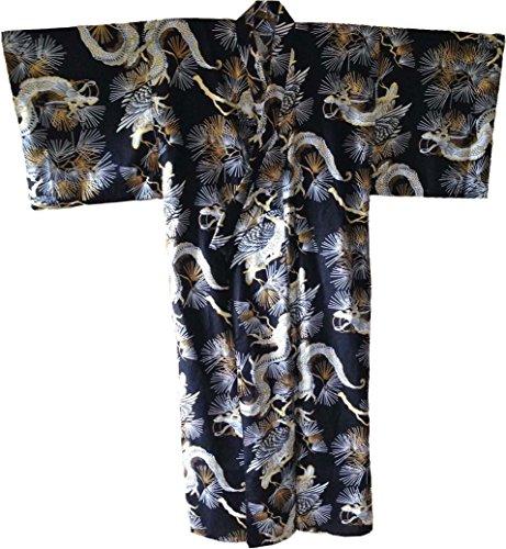 Dragon Design Kimonos - Dragon and Hawk design Mens Kimono Yukata